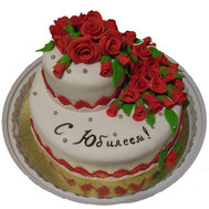 Cake with the Jubilee - flowers and bouquets on roza.ck.ua