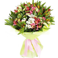 """Amazing bouquet of alstroemerias"" in the online flower shop roza.ck.ua"