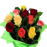 Bright bouquet of roses - flowers and bouquets on roza.ck.ua