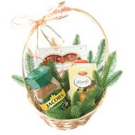 """""""Кошик з кавою і цукерками на Новий рік"""" в интернет-магазине цветов roza.ck.ua"""