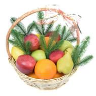 Небольшая корзинка фруктов на Новый год - цветы и букеты на roza.ck.ua