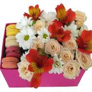 Delicate Flowers and Macarons - flowers and bouquets on roza.ck.ua