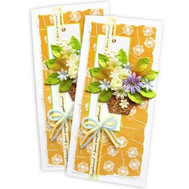 Birthday card with a basket of flowers - flowers and bouquets on roza.ck.ua