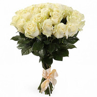 Bouquet of white imported roses - flowers and bouquets on roza.ck.ua