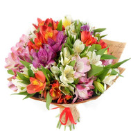 Beautiful bouquet of alstroemerias - flowers and bouquets on roza.ck.ua