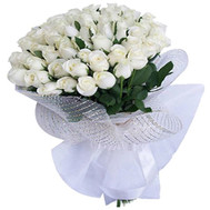Bouquet of white roses - flowers and bouquets on roza.ck.ua