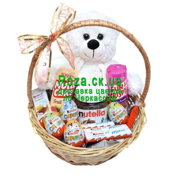 vente chaude en ligne 00d33 e3395 Basket of sweets and Teddy Bear