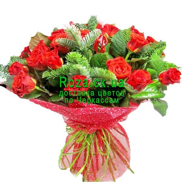 Букет цветов на новый год фото, купить цветы акция челябинск