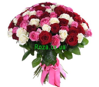"""101 roses of Cherkassy"" in the online flower shop roza.ck.ua"