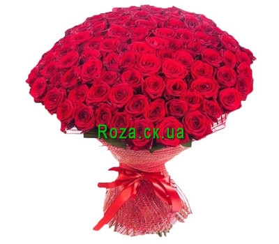 """Large bouquet of 101 red roses"" in the online flower shop roza.ck.ua"