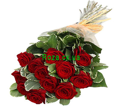"""Cascade bouquet of roses"" in the online flower shop roza.ck.ua"