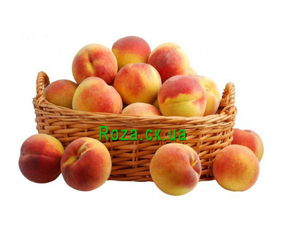 """""""Tasty basket of peaches"""" in the online flower shop roza.ck.ua"""