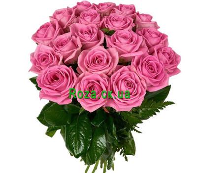 """19 розовых роз аква"" в интернет-магазине цветов roza.ck.ua"