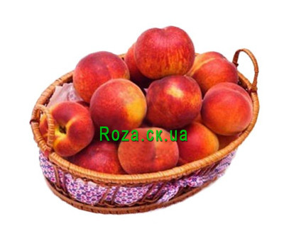 """Tasty basket of peaches"" in the online flower shop roza.ck.ua"