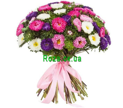 """Large bouquet aster"" in the online flower shop roza.ck.ua"
