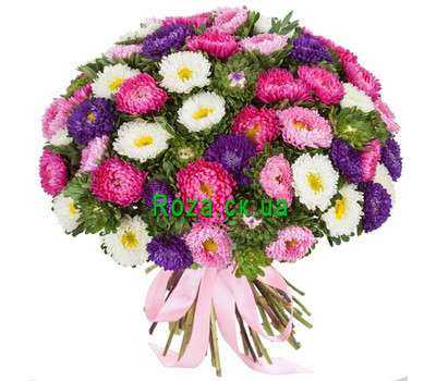 """Bouquet 101 aster Cherkassy"" in the online flower shop roza.ck.ua"