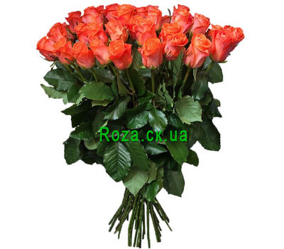 """""""Large bouquet of orange roses"""" in the online flower shop roza.ck.ua"""