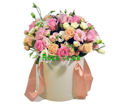 """Elegant composition in a box"" in the online flower shop roza.ck.ua"