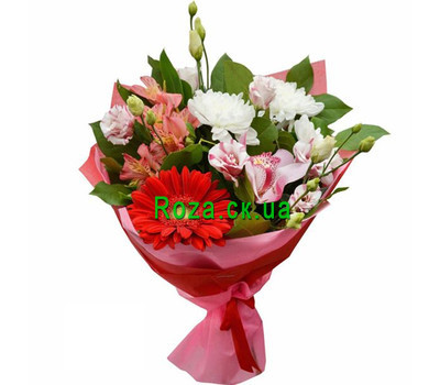 """Elegant bouquet with alstroemeria"" in the online flower shop roza.ck.ua"