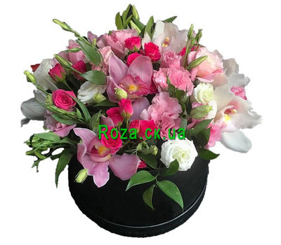 """Elite bouquet in the box"" in the online flower shop roza.ck.ua"