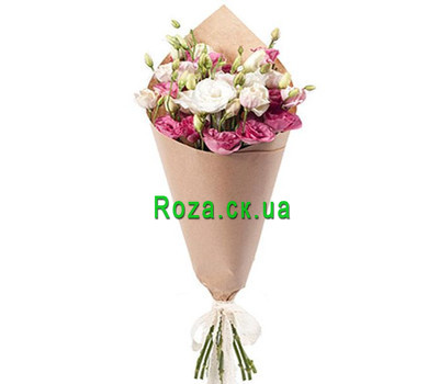 """Eustoma in the bouquet"" in the online flower shop roza.ck.ua"