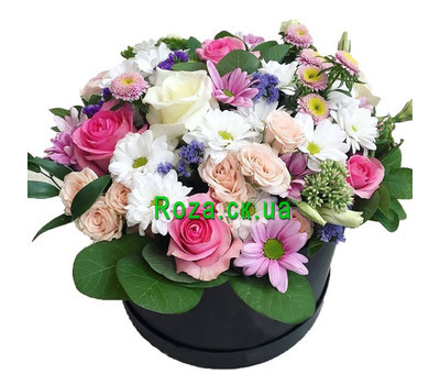 """A box of flowers for your beloved"" in the online flower shop roza.ck.ua"