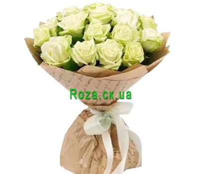 """""""Красивый букет из 25 белых роз"""" в интернет-магазине цветов roza.ck.ua"""
