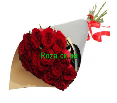 """Red Roses in Kraft"" in the online flower shop roza.ck.ua"
