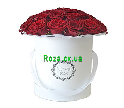 """Red roses in a box"" in the online flower shop roza.ck.ua"