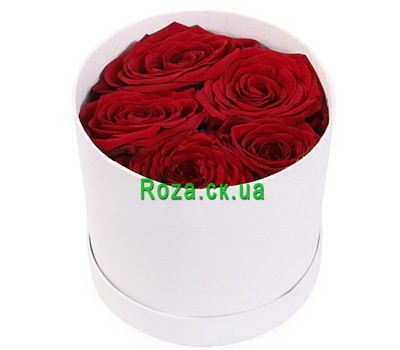 """Mini bouquet in a box"" in the online flower shop roza.ck.ua"