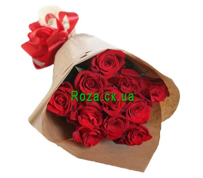 """""""Fashion bouquet of red roses"""" in the online flower shop roza.ck.ua"""