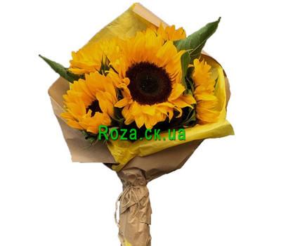 """""""Небольшой букет из подсолнухов"""" в интернет-магазине цветов roza.ck.ua"""