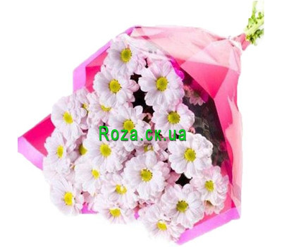 """A small bouquet of chamomile chrysanthemums"" in the online flower shop roza.ck.ua"