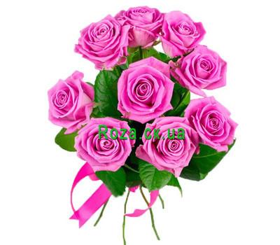 """""""Небольшой букет розовых роз"""" в интернет-магазине цветов roza.ck.ua"""