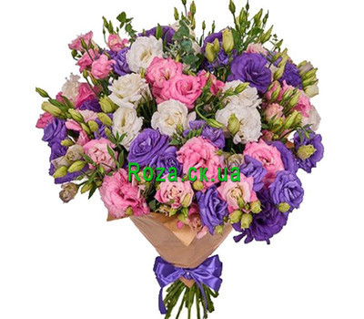 """""""Lush bouquet of natural flowers"""" in the online flower shop roza.ck.ua"""