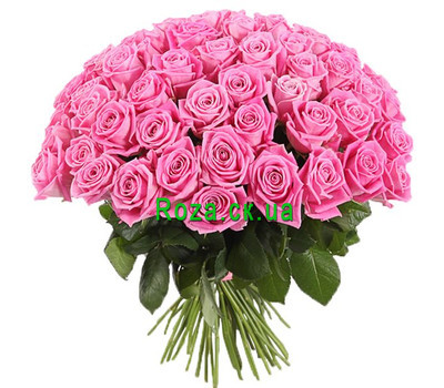 """Chic bouquet of pink roses"" in the online flower shop roza.ck.ua"