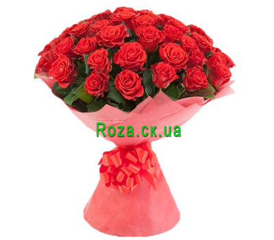 """Amazing bouquet of 45 red roses"" in the online flower shop roza.ck.ua"