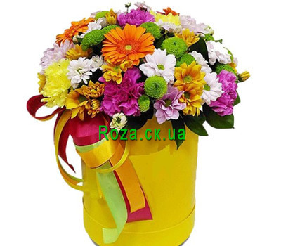 """Bright color box"" in the online flower shop roza.ck.ua"