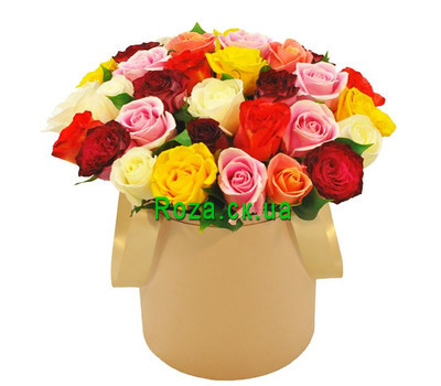 """Bright box with roses"" in the online flower shop roza.ck.ua"
