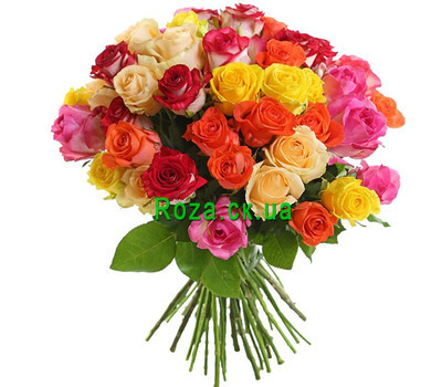 """Bright bouquet of 51 roses"" in the online flower shop roza.ck.ua"