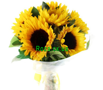 """Bright bouquet of sunflowers"" in the online flower shop roza.ck.ua"