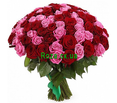 """""""101 roses in an unusual bouquet"""" in the online flower shop roza.ck.ua"""