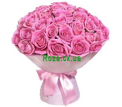"""35 pink roses in Cherkassy"" in the online flower shop roza.ck.ua"