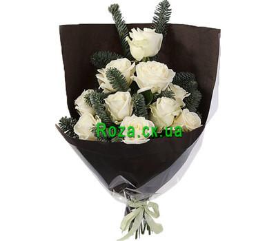 """""""Букет на Новый год из белых роз"""" в интернет-магазине цветов roza.ck.ua"""