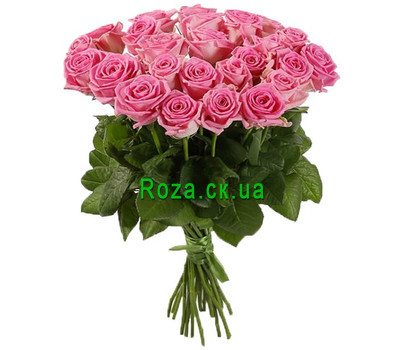 """Bouquet of pink roses for woman"" in the online flower shop roza.ck.ua"
