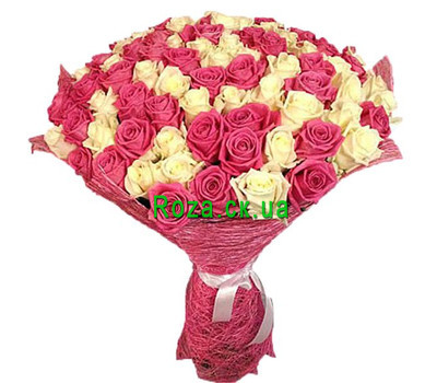 """Beautiful bouquet of 101 roses"" in the online flower shop roza.ck.ua"