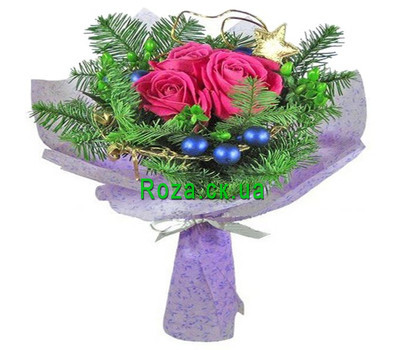 """""""A small Christmas bouquet"""" in the online flower shop roza.ck.ua"""