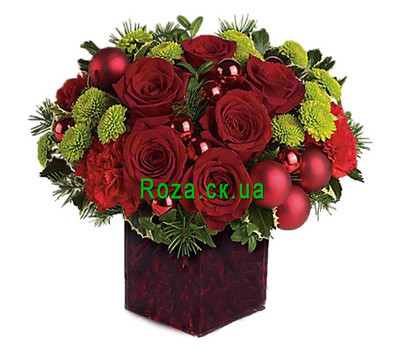 """Original composition for the New Year"" in the online flower shop roza.ck.ua"