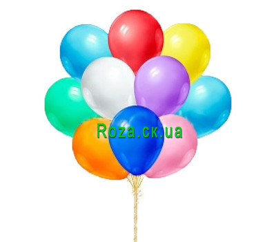 """11 balloons"" in the online flower shop roza.ck.ua"