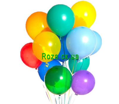 """A cloud of colored balls"" in the online flower shop roza.ck.ua"